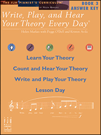 Write Play & Hear Your Theory Every Day 3, Answer Key